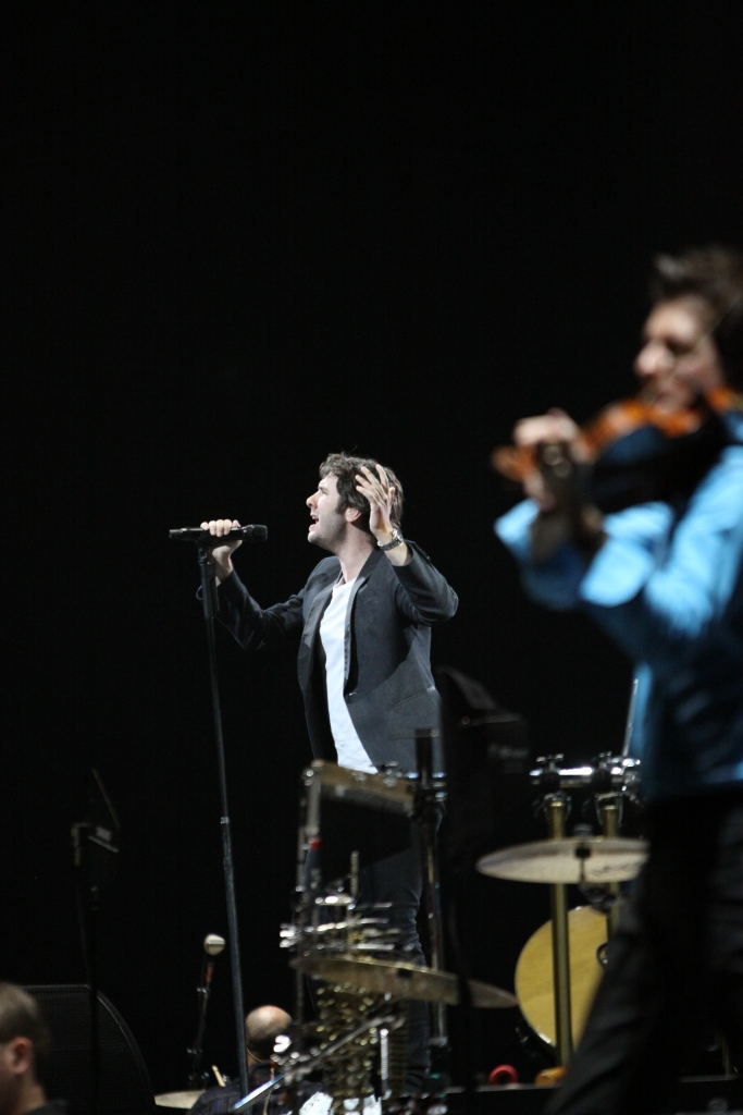 Josh Groban and Christian Hebel.  In the Round Tour. Houston Toyota Center. Taken by Wylde Soul Photography