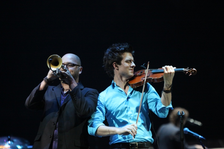 Violinist-Christian Hebel and Daniel Rosenboom- Trumpeter In the Round Tour Toyota Center, Houston Taken By Wylde Soul Photography