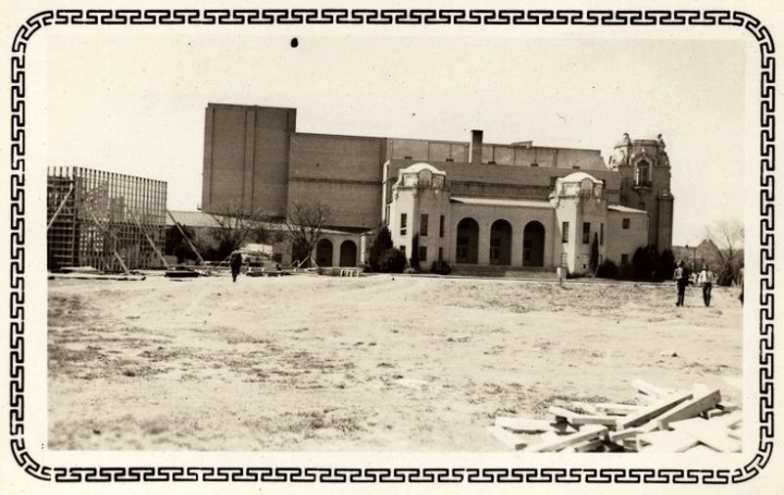 Music Hall Dallas under construction. Image found on Pinterest.